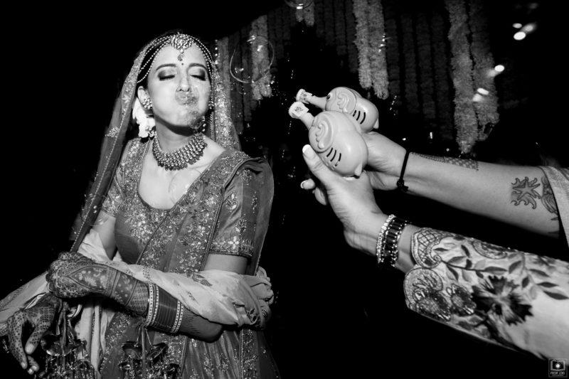 bubbles at phera ceremony